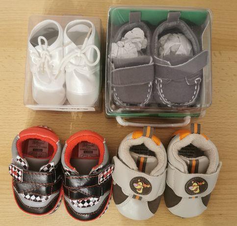 Buty niechodki dla chłopca - 4 pary (dł. 10 cm)