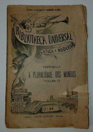 Livro de 1888 - A Pluralidade dos Mundos, por Fontenelle