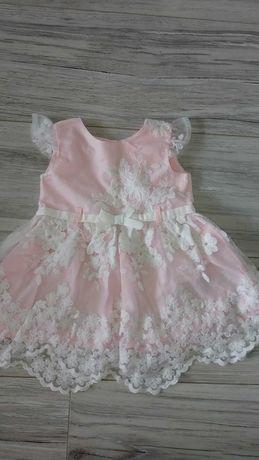 Sukienka koronka chrzest swieta 62 68 dla dziewczynki