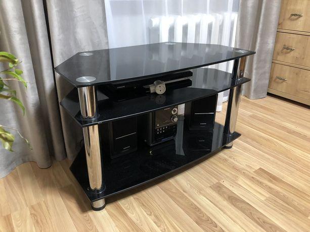 Стеклянная тумба - столик под телевизор