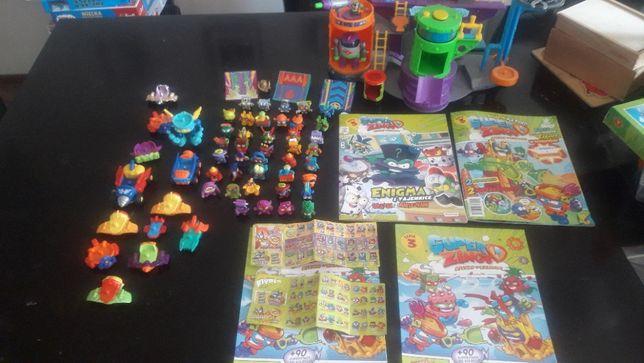 super zings+laboratorium baza figurki zestaw