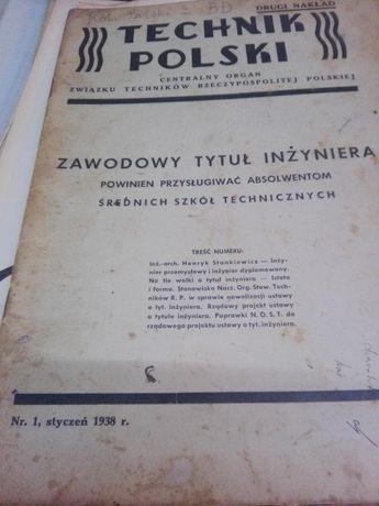 Czasopismo z 1933 roku.Technik Polski