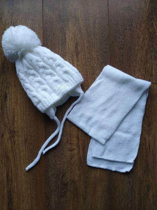 Śliczna czapeczka zimowa z szalikiem 42-46 Nowe Dwory - image 1