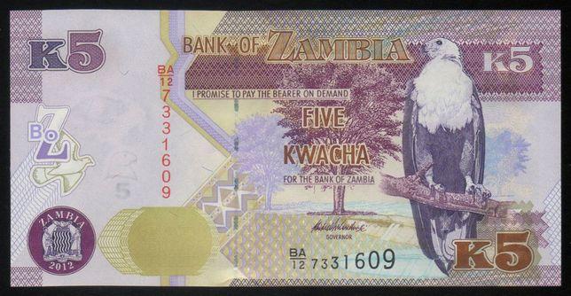 Банкнота Замбия 5 квача, 2012