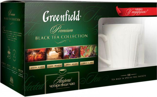Набор чая Greenfield + кружка в подарок Чай Гринфилд 4*25