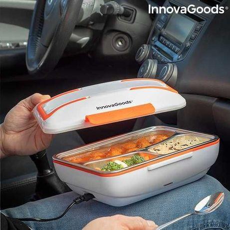 Lancheira elétrica p usar no carro-tabuleiro em INOX-envio grátis-NOVO