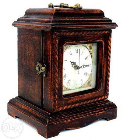 Relógio Mesa Rustico com 3 gavetas
