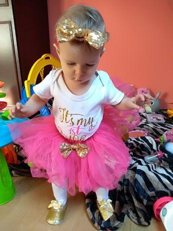 Ubranko na roczek dla dziewczynki