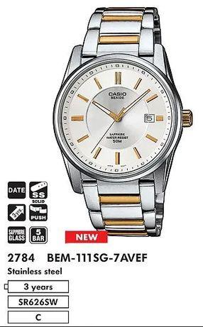 Часы Casio Beside BEM-111SG 2784 Оригинал!