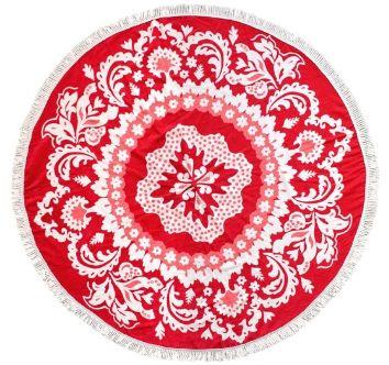 Nowy okrągły gruby ręcznik plażowy koc mandala DUKA 150 cm