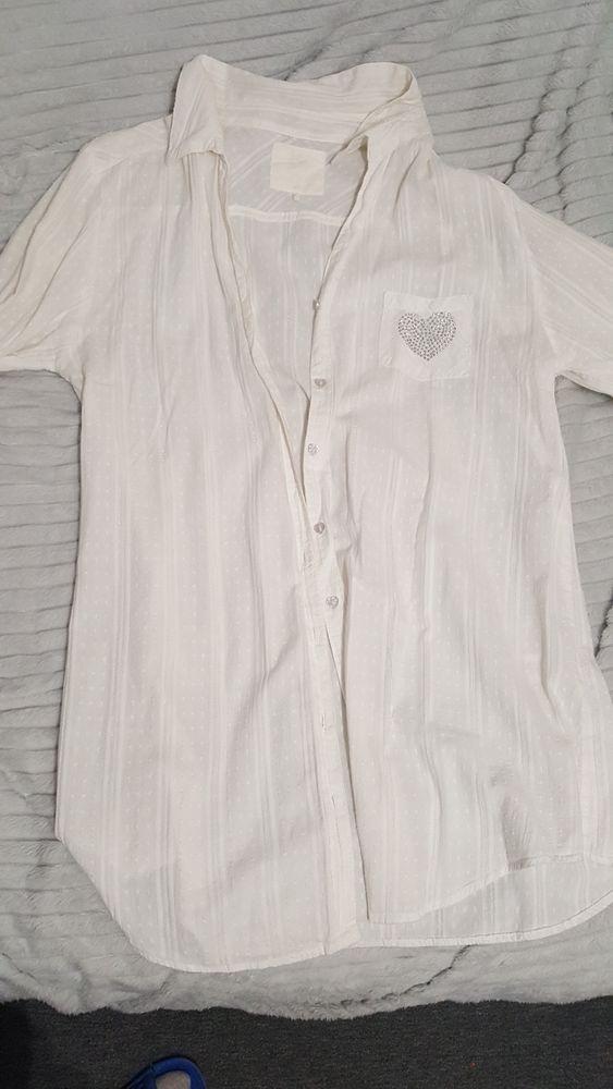 Biala rozpinana koszula rozm.40-42 Koziegłowy - image 1
