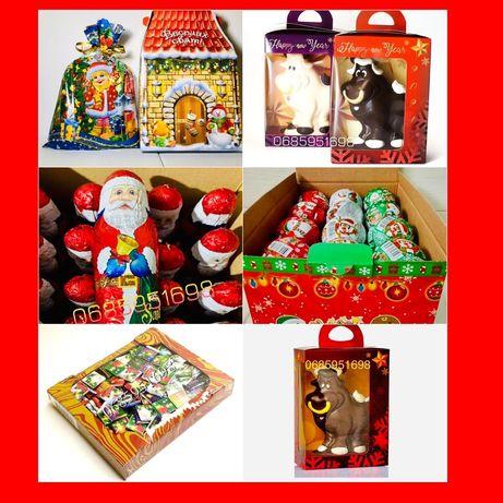 Выпечка МакаНовогодние подарки Бык Дел Мороз Новогодние шоколадки