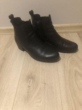 Buty Botki damskie skóra czarne LASOCKI 40