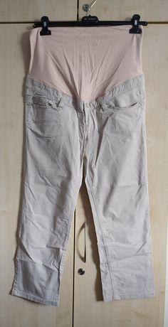 Spodnie ciążowe H&M mama 42 beżowe