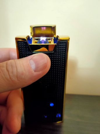 USB Зажигалка-повербанк Alfred электроимпульсная на 2 дуги