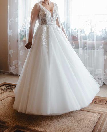 Suknia ślubna, rozmiar s, wzrost 177