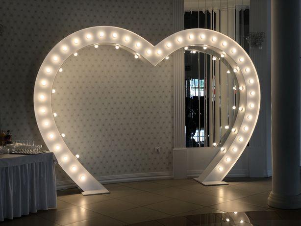 Serce led 250x370 cm napis miłość napis love produkcja sprzedaż