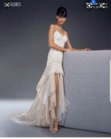 Suknia ślubna Maries de Paris Dolores  hiszpanka koronkowa 2w1 r.36 38