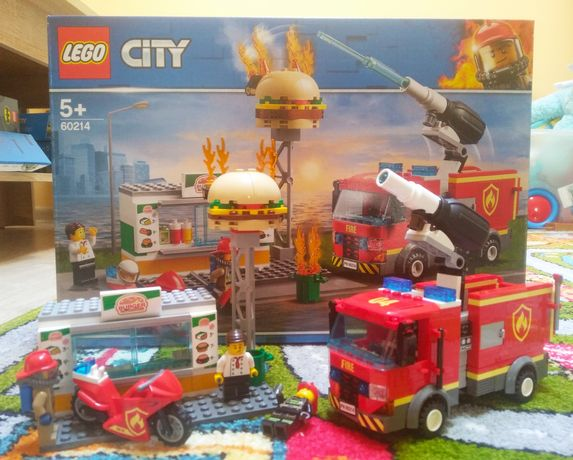 Lego 60214 пожар в бургер баре