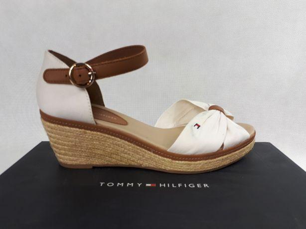Sandały TOMMY HILFIGER iconic elba białe 38