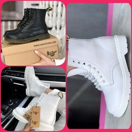 ЛУЦК ∎ Dr.Martens 1460 Black and White Ботинки ∎ ТОП Лучшее качество