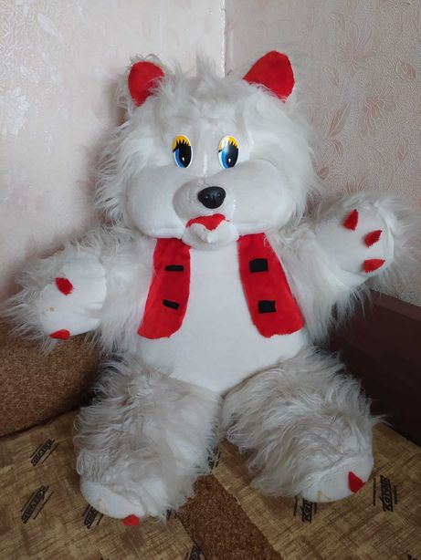 Большой белый медведь мишка 90 см