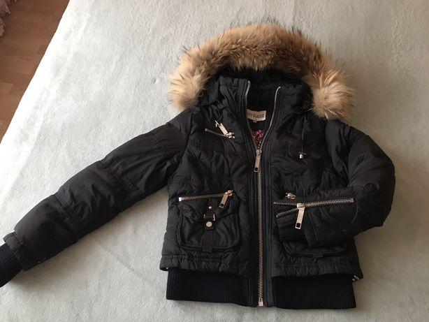 Пухова куртка, натуральний мєх