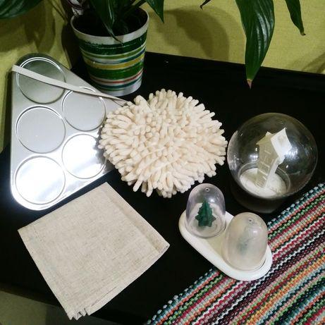 Сахарница, солонка, салфетки, полотенце-абсорбент, подставка, коврик