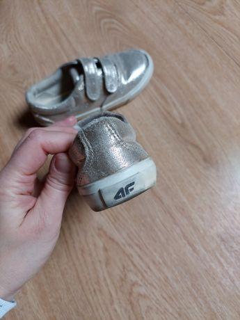 Buty dziewczęce buciki sportowe trampki 4f złote