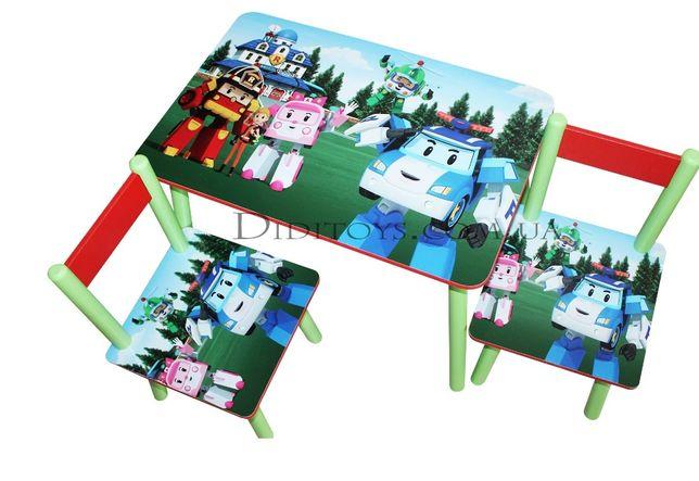 Детский стол ( столик детский) Robocar (варианты)