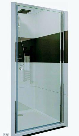 Drzwi prysznicowe 80x182 wnękowe szkło 6 mm