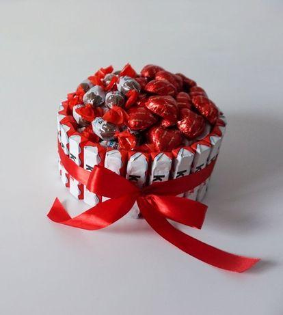 Съедобная коробка.Букет из конфет