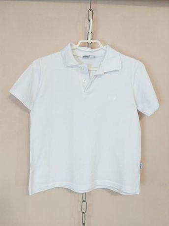 Белоснежная футболка поло
