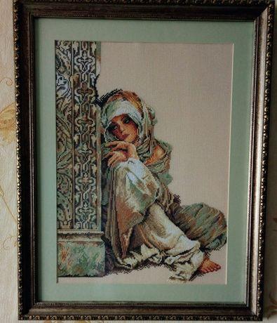 "Картина вышитая крестом ""Девочка турчанка"""