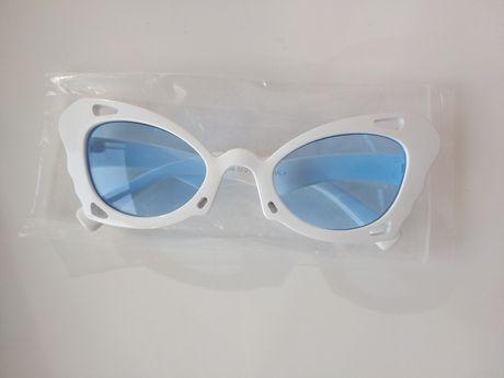 Голубые линзы Имиджевые очки бабочки нулевки для имиджа стиля