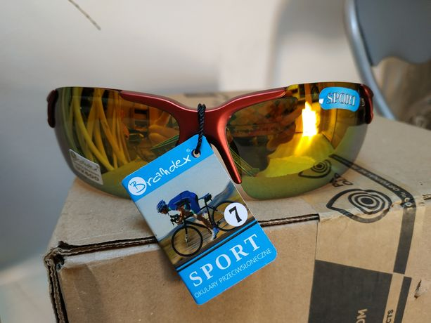 Nowe! Okulary przeciwsłoneczne sportowe rowerowe męskie 400 uv