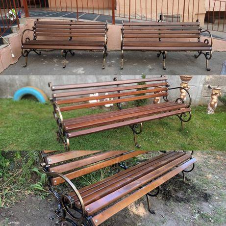 Скамейка Лавка Стіл вуличні комплекти ковані
