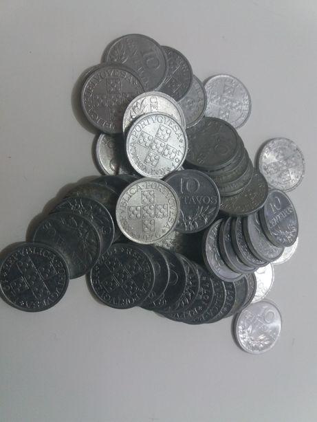Lote de 250 moedas de 10 centavo