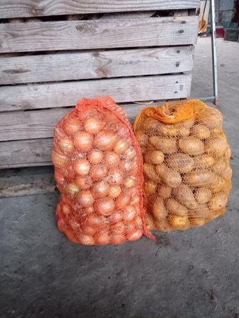 Warzywa od rolnika ziemniaki cebula marchew pietruszkę