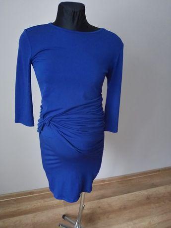 Chabrowa sukienka ciążowa