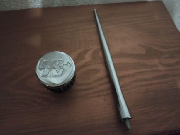 Mini Filtro, antena e dois espaçadores nissan micra