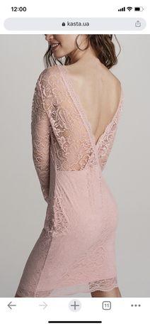 платье коктельное вечернее розовое открытая спина.