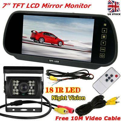 Espelho-monitor de 7''com cabos ou wireless e camera com 18 leds I.R.