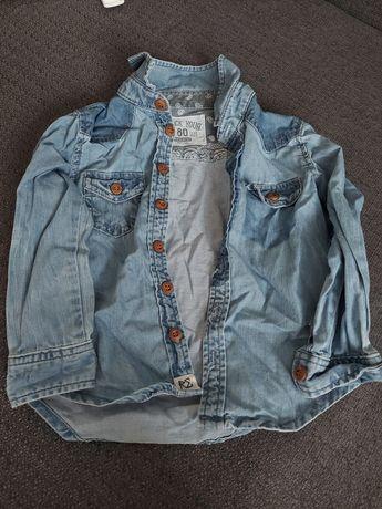Koszula jeansowe rozmiar 80 firmy Reserved