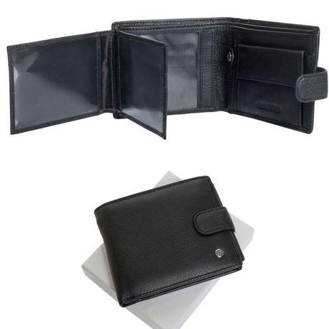 Мужской кожаный кошелек клатч портмоне гаманець F Leather