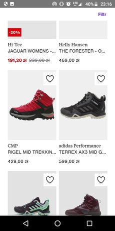 Zamówienia Zalando buty ,odzież Mammut Salewa Hilfiger Versace