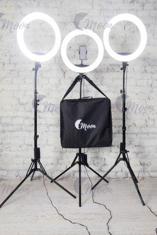 Кольцевая LED лампа/Кольцевой свет MOON(65W-45см)!Свет для фото видео
