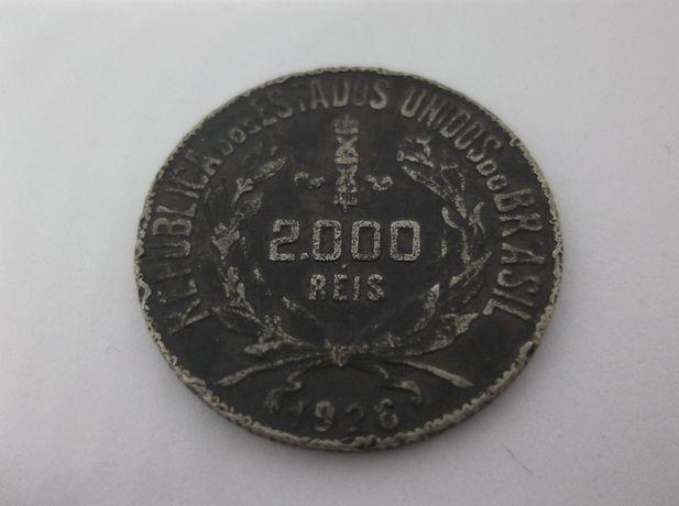 Moedas em prata do Brazil de 2.000 réis 1926