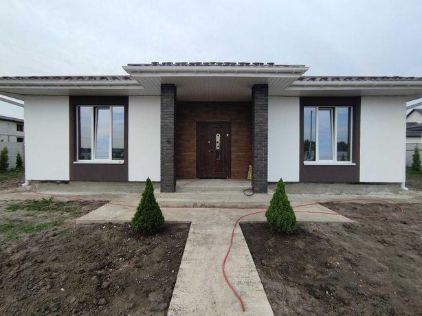 Новый дом 100м2 на участке 6 соток под чистовую. Боярка (Тарасовка).