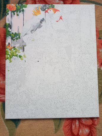 Картина по номерах 40x50 (немного разрисована)